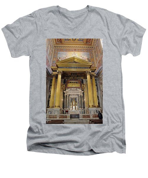 Basilica Of St John Lateran  Men's V-Neck T-Shirt
