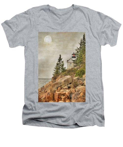 Bass Harbor Head Lighthouse. Acadia National Park Men's V-Neck T-Shirt