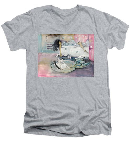 Bath Time Men's V-Neck T-Shirt