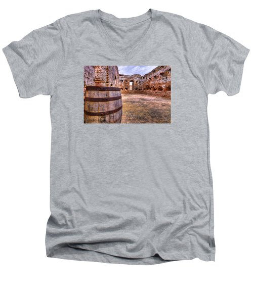 Men's V-Neck T-Shirt featuring the photograph Battalion Barrell by Tim Stanley