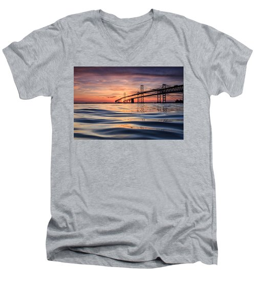 Bay Bridge Silk Men's V-Neck T-Shirt