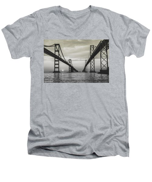 Bay Bridge Strong Men's V-Neck T-Shirt