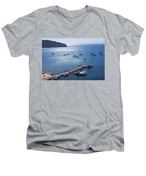 Men's V-Neck T-Shirt featuring the photograph Bay Of Porto by George Katechis