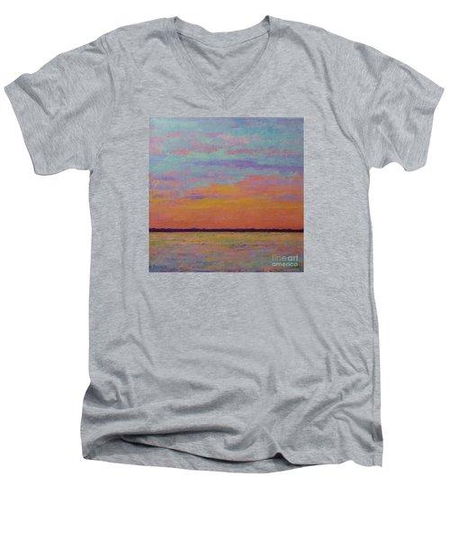 Bay Sunset Men's V-Neck T-Shirt by Gail Kent