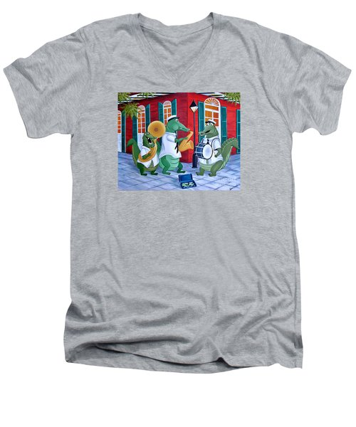 Bayou Street Band Men's V-Neck T-Shirt