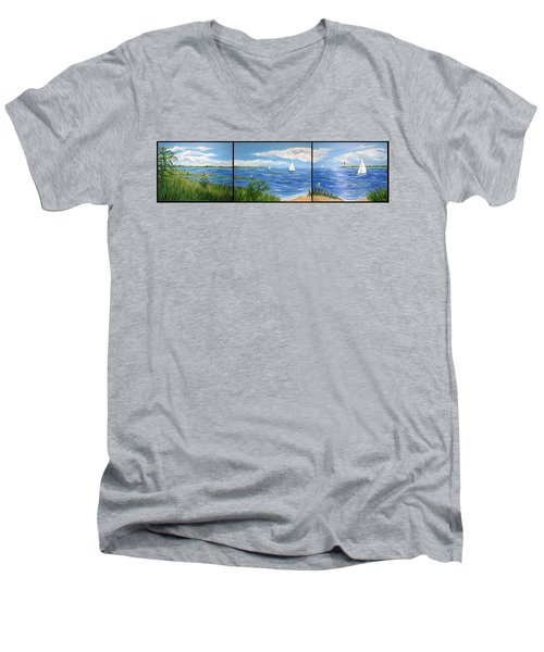 Bayville Trio Men's V-Neck T-Shirt