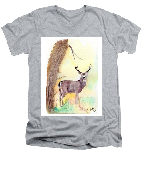 Be A Dear Men's V-Neck T-Shirt by C Sitton