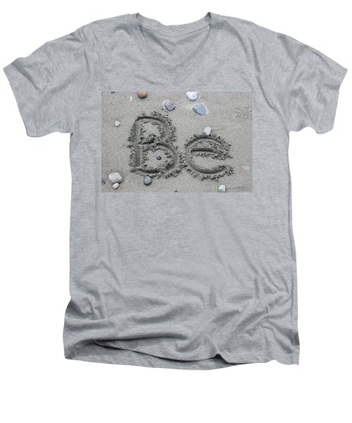 Be Men's V-Neck T-Shirt