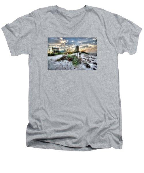 Beach And Buildings Men's V-Neck T-Shirt