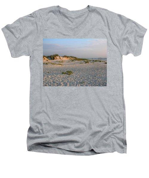 Beach At Sunrise Men's V-Neck T-Shirt