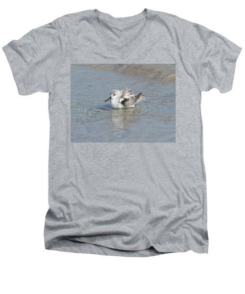 Beach Bird Bath 4 Men's V-Neck T-Shirt