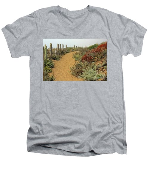 Men's V-Neck T-Shirt featuring the photograph Beach Dune  by Kate Brown