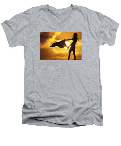 Beach Girl Men's V-Neck T-Shirt