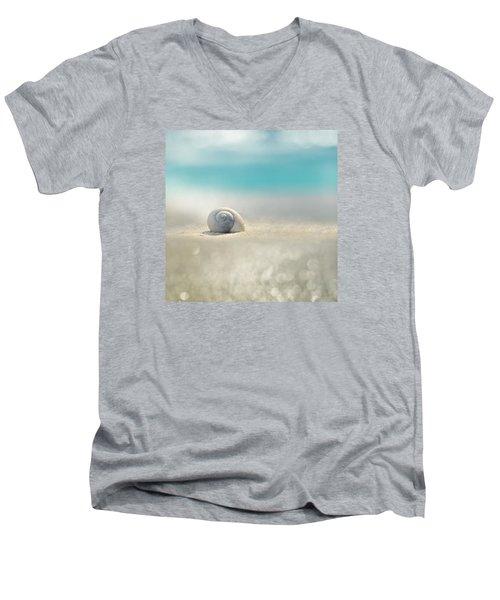 Beach House Men's V-Neck T-Shirt by Laura Fasulo