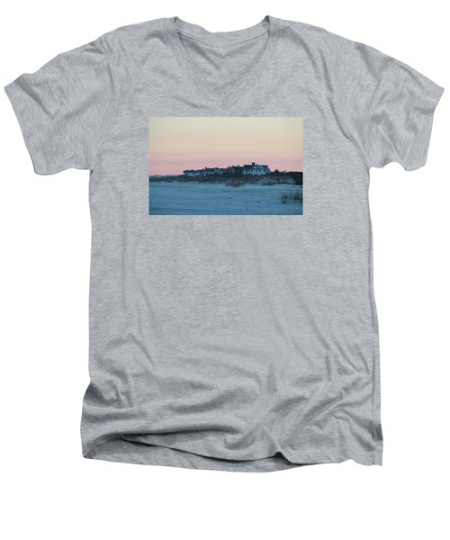 Beach Houses Men's V-Neck T-Shirt by Cynthia Guinn
