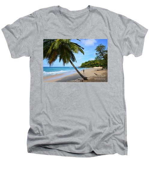 Beach In Dominican Republic Men's V-Neck T-Shirt