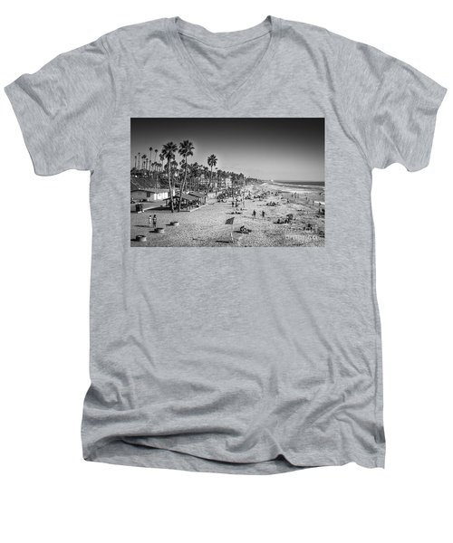 Men's V-Neck T-Shirt featuring the photograph Beach Life From Yesteryear by John Wadleigh