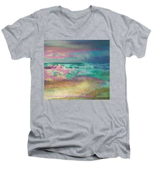 Beach  Overcast Men's V-Neck T-Shirt