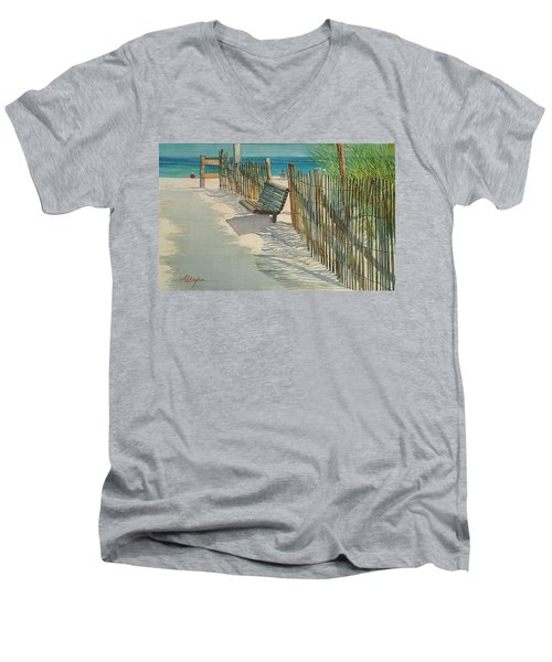 Beach Patterns Men's V-Neck T-Shirt