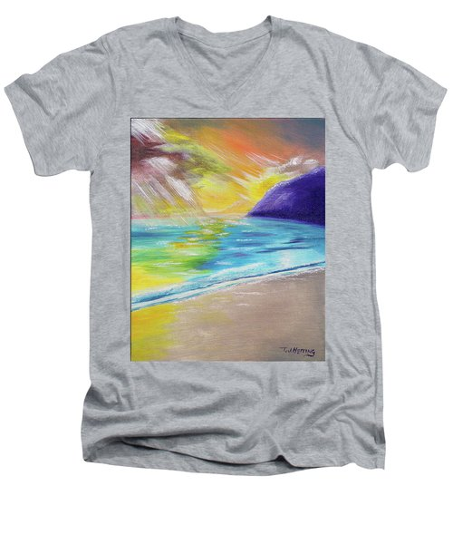 Beach Reflection Men's V-Neck T-Shirt