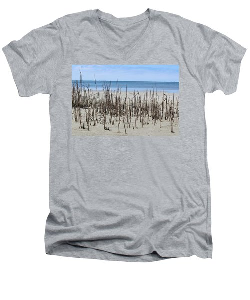 Beach Scene Men's V-Neck T-Shirt