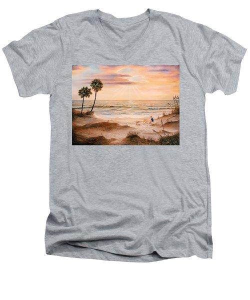 Beachcombers Men's V-Neck T-Shirt by Duane R Probus