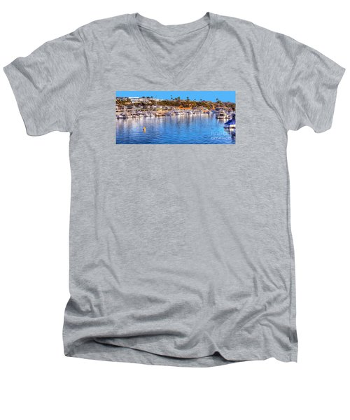 Beacon Bay - South Men's V-Neck T-Shirt by Jim Carrell