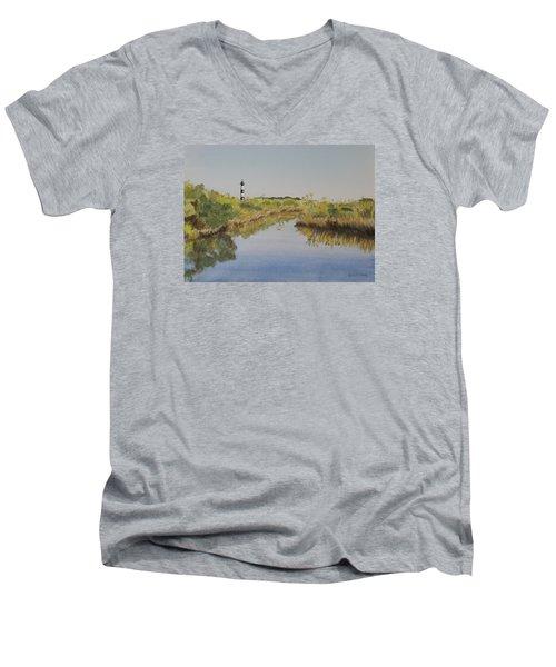 Beacon On The Marsh Men's V-Neck T-Shirt