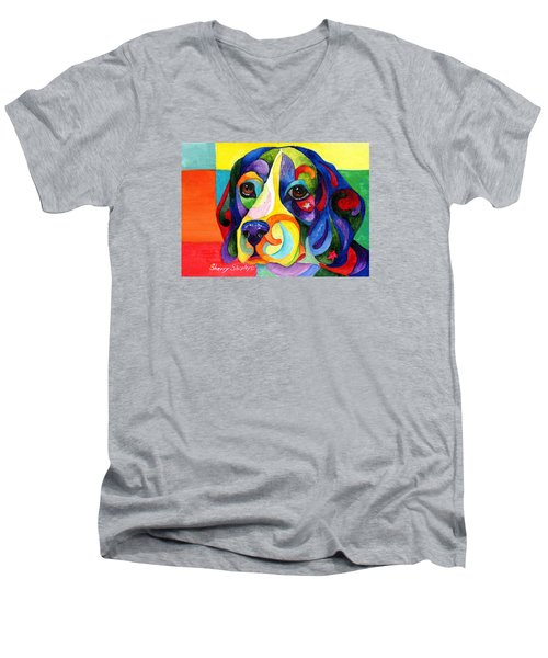 Beagle Men's V-Neck T-Shirt