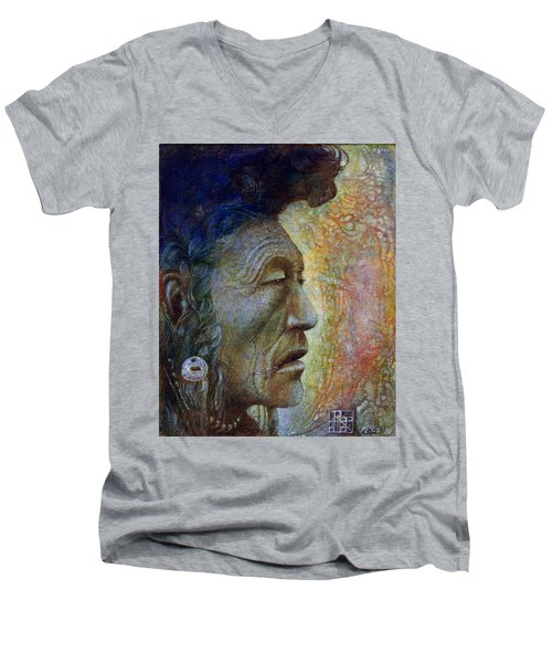 Bear Bull Shaman Men's V-Neck T-Shirt