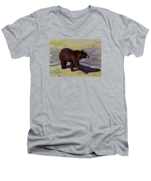Bear Shadows Men's V-Neck T-Shirt by Pattie Wall