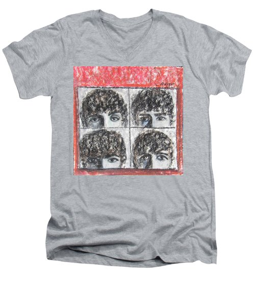 Beatles Hard Day's Night Men's V-Neck T-Shirt