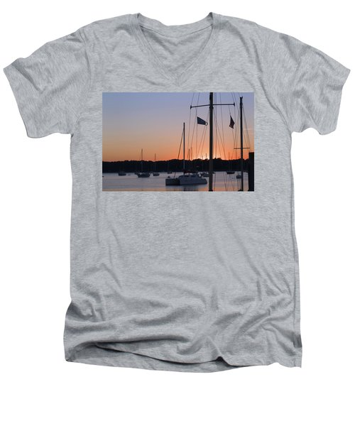 Beaufort Sc Sunset Men's V-Neck T-Shirt