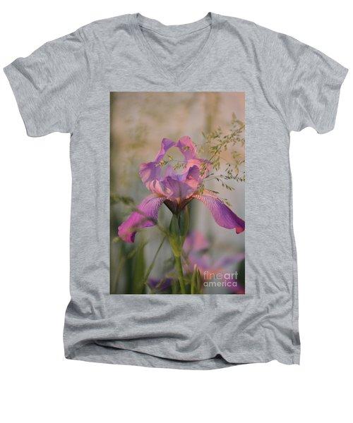 Beautiful And Mystical Iris  Men's V-Neck T-Shirt