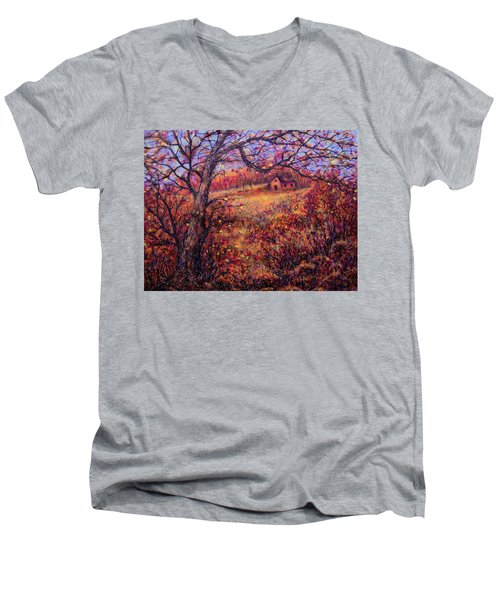 Men's V-Neck T-Shirt featuring the painting Beautiful Autumn by Natalie Holland