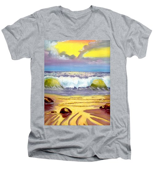 Beautiful Beach Men's V-Neck T-Shirt