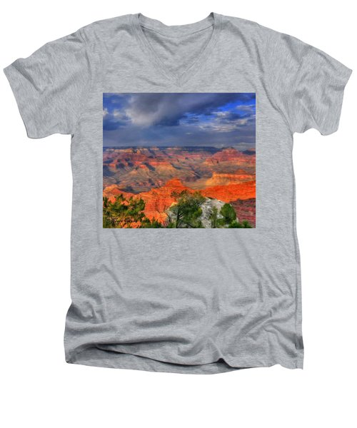 Men's V-Neck T-Shirt featuring the painting Beautiful Canyon by Bruce Nutting