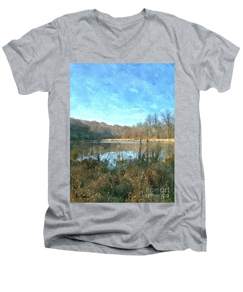 Men's V-Neck T-Shirt featuring the photograph Beautiful Day 2 by Sara  Raber