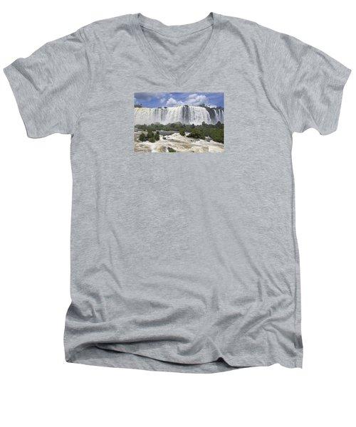 Beautiful Iguazu Waterfalls  Men's V-Neck T-Shirt