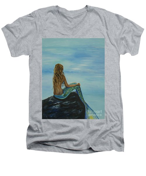 Beautiful Magic Mermaid Men's V-Neck T-Shirt