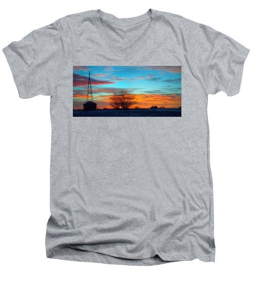 Beautiful Mornin' Panorama Men's V-Neck T-Shirt