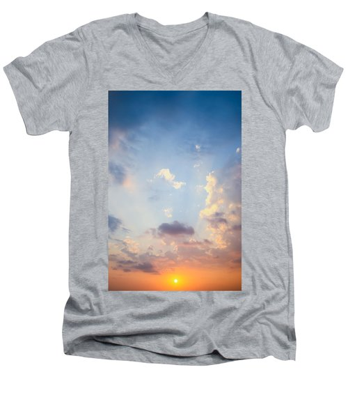 Beautiful Orange Sunset Men's V-Neck T-Shirt