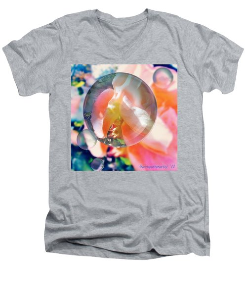 Beautiful Rose Marble - Autumn Light Men's V-Neck T-Shirt