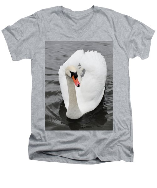 Men's V-Neck T-Shirt featuring the photograph Beautiful Swan by Tiffany Erdman