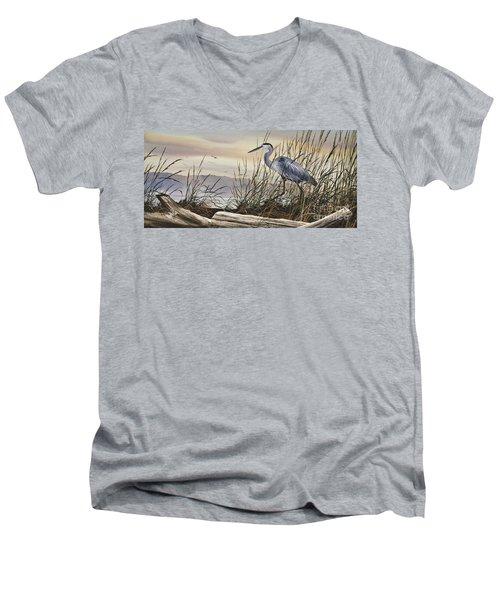 Beauty Along The Shore Men's V-Neck T-Shirt