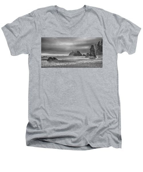 Beauty In Grey Men's V-Neck T-Shirt