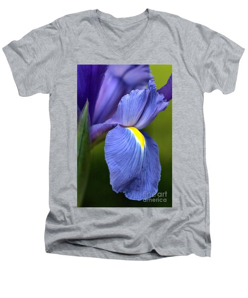 Men's V-Neck T-Shirt featuring the photograph Beauty Of Iris by Joy Watson