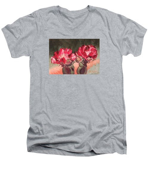 Beavertail Cactus Men's V-Neck T-Shirt