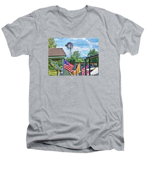 Bedford Village Pennsylvania Men's V-Neck T-Shirt