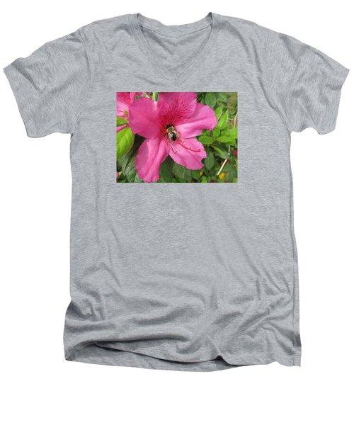 Bee Cause Men's V-Neck T-Shirt by Deborah Lacoste